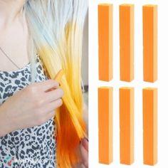 happy vibrant orange hair chalk  hair  haircolor Bright Purple Hair b90524310bd