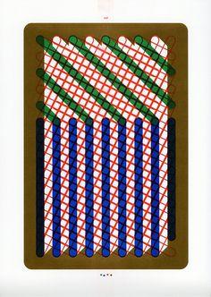 Letters Become Patterns - Risograph prints by Sigrid Calon