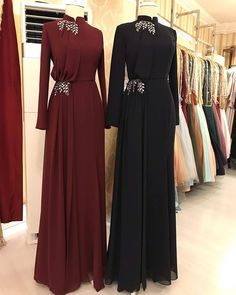 Modest Fashion Hijab, Abaya Fashion, Muslim Fashion, Fashion Dresses, Hijab Evening Dress, Hijab Dress Party, Mode Abaya, Mode Hijab, Indian Designer Outfits