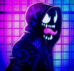 Neon Noir Venom by Andrew Sebastian Kwan & DC Wallpaper Animé, Marvel Wallpaper, Marvel Venom, Marvel Art, Asgard Marvel, Marvel Avengers Games, Marvel Logo, Spiderman Kunst, Anime Characters