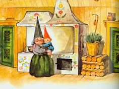 Gnome Home from Gnomes by Wil Huygen and Rien Poortvliet.. I just like this..... plain and simple...