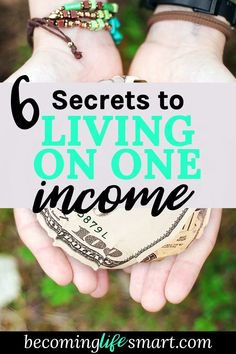 How to live on one income? Here are some great steps that will help you get there. | www.becominglifesmart.com