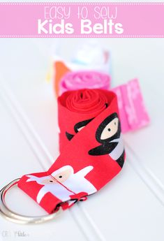 Easy to Sew Kids Belts