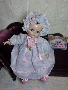 Antique Vintage Madame Alexander Composition and Cloth Flirty Eyed Baby Doll | Dolls & Bears, Dolls, By Material | eBay!