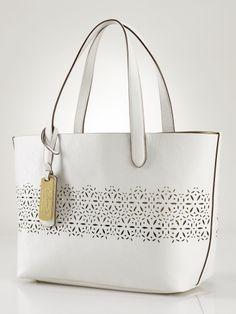 3455620376 Summer Bag - Laser-Cut Shopper - Lauren Lauren Handbags - RalphLauren.com
