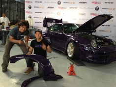 Proud to show off them ripped stock fenders. - June 6, 2013 #rwbmanila #rauhweltbegriff #carpornracing #porsche #993