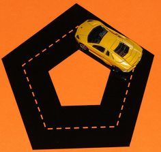 """shapes and a little car to """"drive"""" around the shapes. imitation. i'ding shapes. tracing. #busybag"""