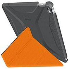 roocase RC-APL-AIR2-OG-SS-SG-OR Origami 3D Slim Shell Folio Case for iPad Air 2 - Space Gray-Orange