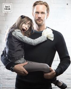 There's something insanely attractive about how a man interacts with a child. Alexander Skarsgård & Onata Aprile   TIFF   What Maisie Knew