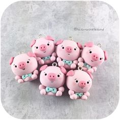 These chubby piggies are looking for a new home ☺️☺️ i will have a small shop update/restock this week. will announce when i have exact date.. stay tuned #polymerclay #polymerclayart #polymerclaycharms #claycharms