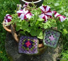 Granny Squares Granny Squares, Crocheting, Knit Crochet, Knitting, Plants, Blog, Chrochet, Ganchillo, Tricot