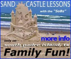 The SoBs is a team of master sand sculptors headquartered at South Padre Island, TX. We offer private and group sand castle instruction, how-to books and tools andtravel around the world doing sand sculpture demonstrations. Beach Sand Castles, Tanning Salons, Building Sand, South Padre Island, Sand Sculptures, Sand Art, Wizards, Picasso, A Team