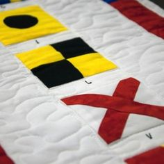 """""""Custom Name"""" Nautical Flags Quilted Banner Nautical Flags, Nautical Wall Decor, Flag Quilt, Banner, Holiday Decor, My Style, Handmade, Inspiration, Home Decor"""