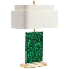 Couture Malachite Green and Gold Leaf Table Lamp - #14K62   Lamps Plus
