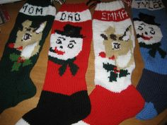 Christmas Stockings Personalized Knit Set Of  Four (220.00 USD) by knitsbygramma