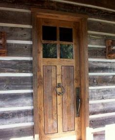 Rustic Exterior Door    With Side Windows Would Be Good