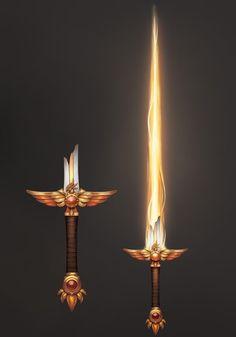 Anime Weapons, Sci Fi Weapons, Weapon Concept Art, Fantasy Sword, Dark Fantasy, Pretty Knives, Armas Ninja, Cool Swords, Sword Design