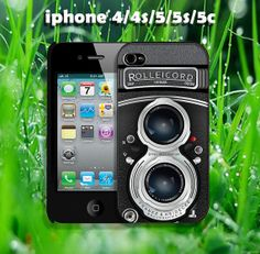 Camera rolleicord design case for iphone 4/4s, iphone 5, iphone 5s, iphone5c