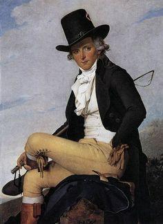 Monsieur Seriziat 1795 Jacques Louis David; Private collection