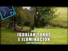 Cómo igualar tonos e iluminación entre dos imágenes con Photoshop - YouTube