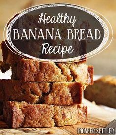 Healthy Banana Bread Recipe | Bread