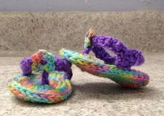 Crocheted Baby Flip flops  sandals  baby shoes by meddywv on Etsy, $15.00