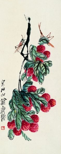 China painting: countless rich  fruits from Qi Baishi's hands