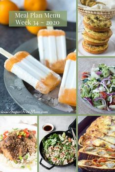 Customizable Ketogenic Low Carb Meal Plans sent right to your email each week! Includes Gluten Free, Keto, and Low Carb breakfast, lunch, dinner, and dessert ideas. Low-Carb Keto Meal Plan Menu Week 34 | Sugar Free Mom Gluten Free Menu, Gluten Free Recipes For Breakfast, Sugar Free Recipes, Healthy Dinner Recipes, Low Carb Recipes, Budget Recipes, Budget Freezer Meals, Frugal Meals, Low Carb Meal Plan
