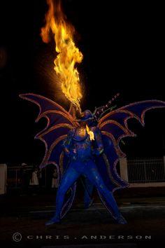 Blue Devil spits fire at Trinidad Carnival