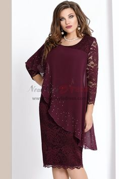 0ed71136e20 2019 Dressy Plus Size Burgundy Lace Mother Of The Bride Dresses with  Crystal Free Shipping Mother