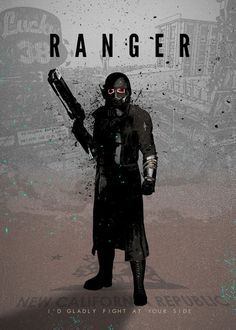 'Heroes of Gaming - NCR Ranger' Lámina fotográfica by rykker Fallout Fan Art, Fallout Concept Art, Ncr Ranger, Fallout Wallpaper, Fallout New Vegas, Art Base, Video Game Art, Attack On Titan, Character Art