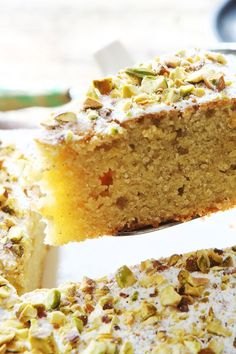 NYT Cooking: This moist and springy Persian almond cake is generously spiced with ground cardamom (two full teaspoons). We like it with fresh berries. If you want to serve it for Passover, be sure to use kosher for Passover confectioners' sugar Pistachio Recipes, Pistachio Cake, Almond Flour Recipes, Baking With Almond Flour, Passover Desserts, Passover Recipes, Passover Cake Recipe, Passover Meal, Cupcakes