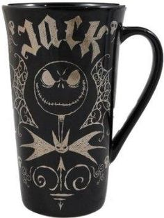 I found 'Gold JACK SKELLINGTON Ceramic Cup Mug NEW' on Wish, check it out!