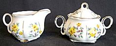 Fred Roberts Co. Cream & Lidded Sugar Bowl