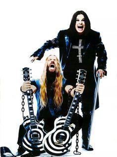 Zakk Wylde & Ozzy Osbourne by dee Heavy Metal Rock, Heavy Metal Music, Heavy Metal Bands, Black Metal, Ozzy Osbourne, Metallica, Black Sabbath, Rock Roll, Rock Bands