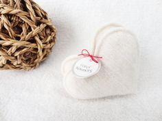 Pocket Hand Warmers VANILLA CREAM Heart Handwarmers Felted Cashmere Upcycled Heart Handwarmers ~ Eco Gift {About} Who holds your heart in the palm of his or her hand? Give these cashmere handwarmers to someone special ~ When your kid or your honey feels them in their pockets theyll be