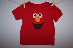 Sesame Street ELMO Face Custom Boutique T SHIRT Tee by EnchantedStitches528 on Etsy