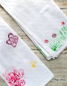 How To Make Whimsical Vegetable-Stamped Tea Towels for Spring — Projects from The Kitchn