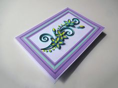 Quilled Flower Card  Paper Handmade Greeting Card by TipTopArtShop