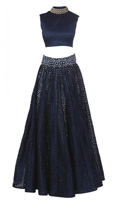 Buy SVA by Sonam & Paras Modi's Blue Cutwork Lengha. love the skirt but do not like the top. i also love the color