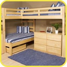 Visit our site http://triplebunkbedsplace.net for more information on Twin Bed With Trundle.Triple bunk beds are common additions to a kid's bed room most significantly if you are planning to optimize a limited flooring area. Through this setup, 3 kids are share the room and enjoy sleeping on their very own bed. There are numerous type of designs which you can choose from depending on the area allocated for the area or room.
