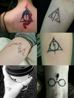 Rock your fashion statement with a bold Harry Potter tattoo design. Choose from our amazing collection of Harry Potter tattoos, one that appeals to you the most. Fandom Tattoos, Fake Tattoos, Trendy Tattoos, Body Art Tattoos, Small Tattoos, Tatoos, Harry Potter Tattoos, Harry Potter Art, Harry Pptter