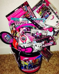 MONSTER HIGH EASTER BASKET pail loaded with Monster High fun gifts NEW