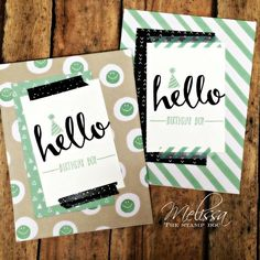 Hello free sale-a-bration set from Stampin' Up!