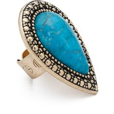 Samantha Wills Bohemian Bardot Ring ($62) ❤ liked on Polyvore featuring jewelry, rings, accessories, blue, deep blue ocean, boho chic jewelry, samantha wills jewelry, wood jewelry, bezel jewelry and carved ring