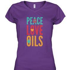 Peace, Love, Oils - Purple V-neck https://viralstyle.com/eotsd/PLO2?src=ptpplvnk