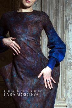 Цельно-валянное платье
