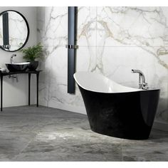 The Amalfi bath by Victoria & Albert feature softly contoured sides, whilst the extended backrest provides full head support, essential for those long luxurious soaks. Amalfi, Victoria And Albert Baths, Free Standing Wall, Bath Uk, Stone Bath, Large Format Tile, Black Bath, Contemporary Baths, Bath Tiles