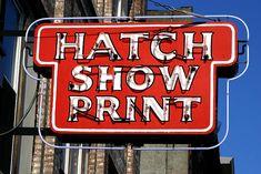 Hatch Show Print shop downtown Nashville