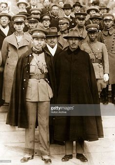1930: From left to right, Manchurian leader Chang Hsueh-Liang (Zhang Xueliang, 1901 - 2001), nicknamed The Young Marshal, and Nationalist Chinese warlord statesman Generalissimo Chiang Kai-Shek (1887 - 1975).